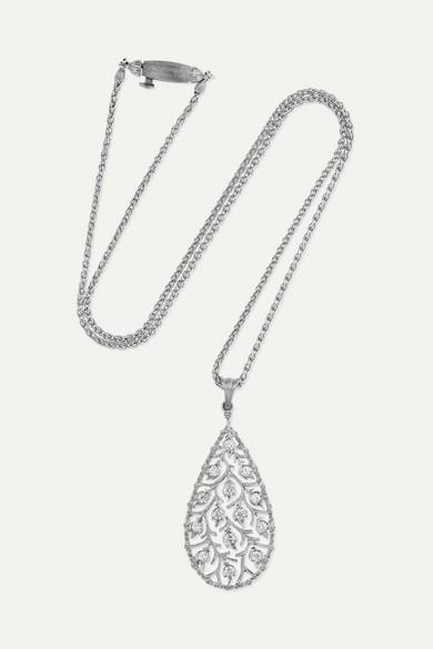 Ramage 18 Carats Collier De Diamants En Or Blanc - Taille Buccellati B0FCr1T