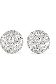 Ramage 18-karat white gold diamond earrings