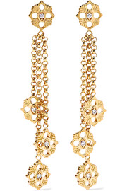 Opera 18-karat gold diamond earrings