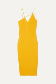 Cushnie et Ochs Asymmetric stretch-crepe midi dress