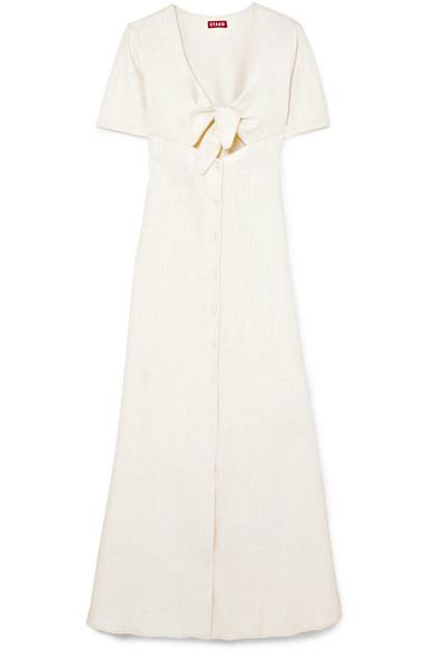 66ea1a48e4c STAUD. Maya tie-front linen-blend maxi dress