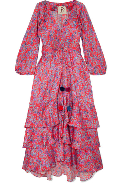 Figue - Frederica Floral-print Silk Crepe De Chine Maxi Dress - Pink