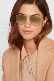 Milos aviator-style metal sunglasses