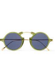 Roma II round-frame gold-tone and acetate sunglasses