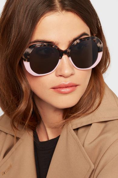 Manuela Two-tone Round-frame Acetate Sunglasses - Tortoiseshell Illesteva GBVYM5
