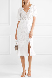 Olivia broderie anglaise cotton midi dress