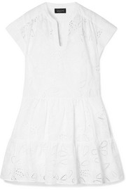 Saloni Ashley broderie anglaise cotton mini dress