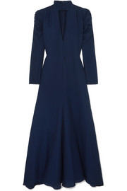 Chloé Ruched cutout silk-blend crepe gown