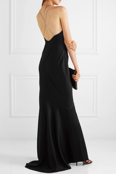 Jaclyn Crystal Embellished Hammered Satin Gown by Rachel Zoe