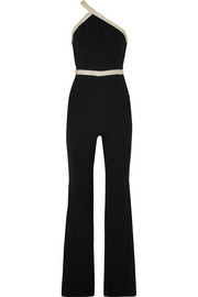 Lucy one-shoulder embellished crepe jumpsuit
