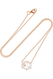 Andrea Fohrman Collier en or rose 18 carats et pierres multiples Mini Galaxy