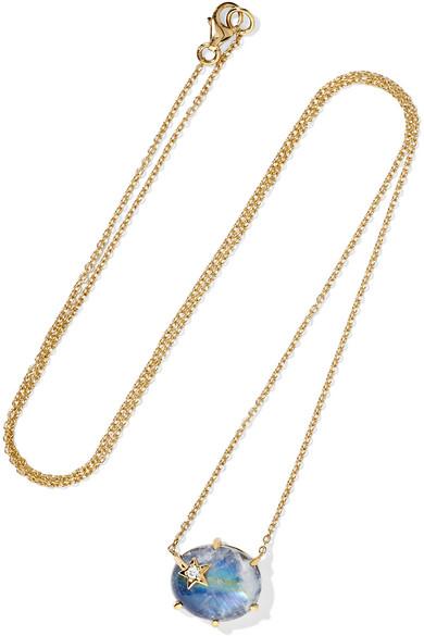 18-karat Gold, Enamel And Diamond Necklace - one size Andrea Fohrman