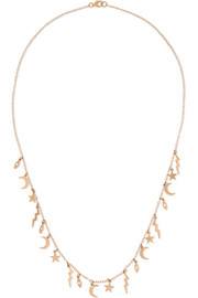 Element 18-karat rose gold diamond necklace