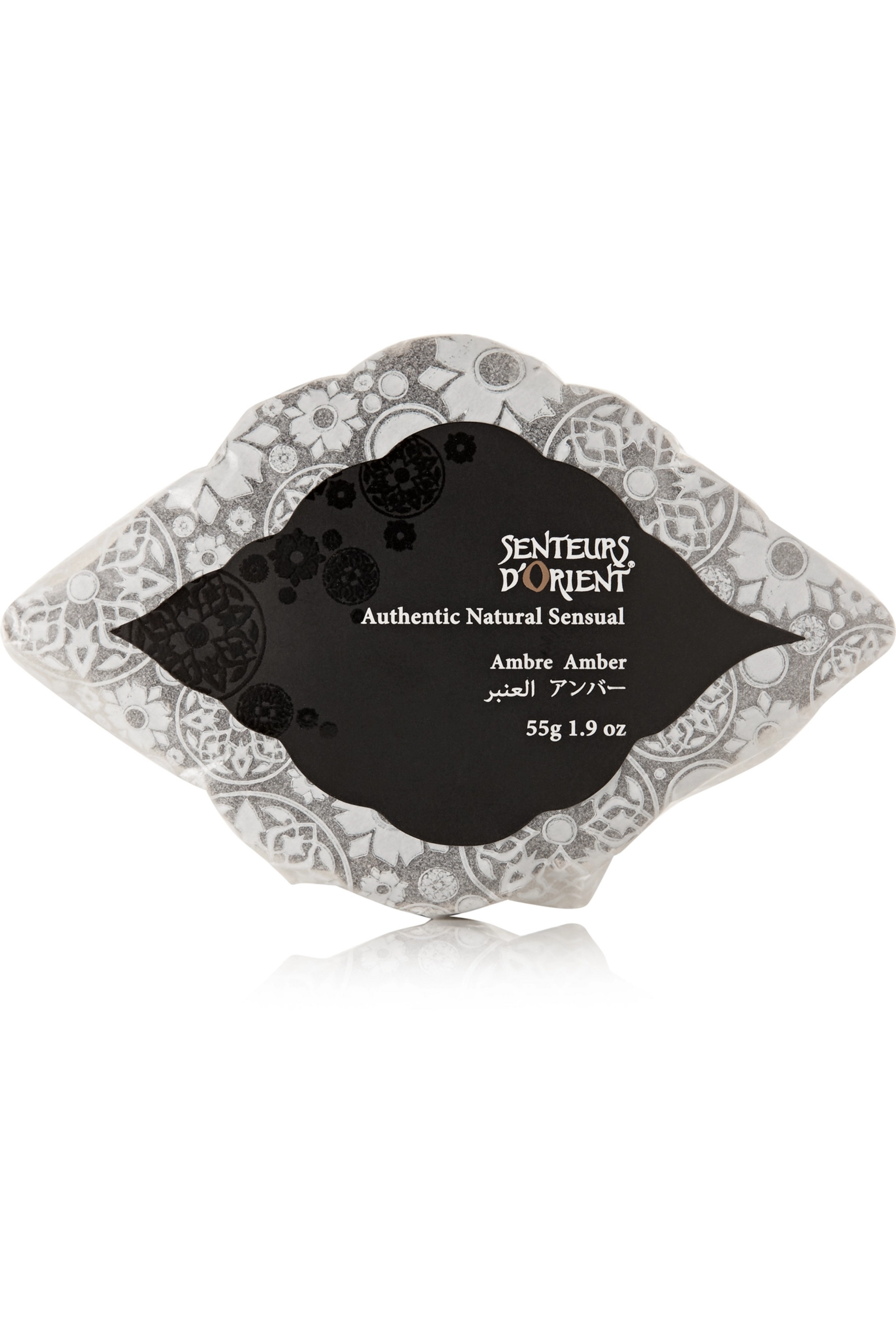 Senteurs d'Orient + NET SUSTAIN Amber Ma'amoul Soap with Marble Dish, 285 g – Seife mit Schale