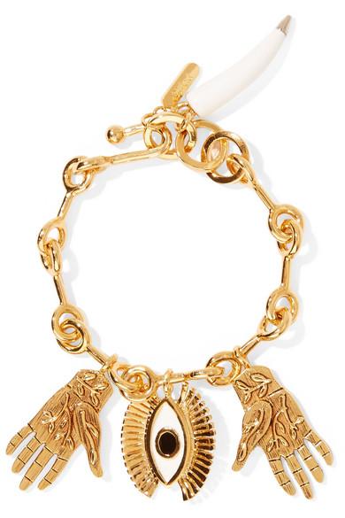 Sloan Gold-Tone, Enamel And Resin Bracelet