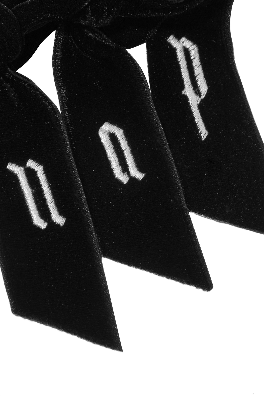 LELET NY Alphabet embroidered velvet hairclip