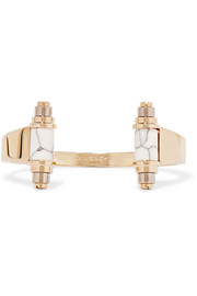 Givenchy Gold and palladium-plated obsidian cuff