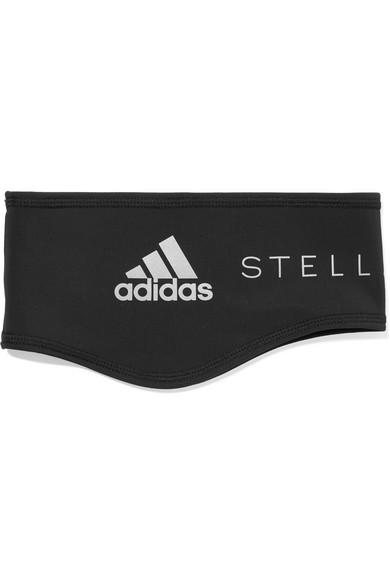 Run Printed Stretch Fleece Headband by Adidas By Stella Mc Cartney