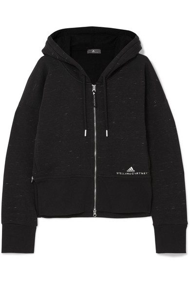 Essentials Organic Cotton Blend Jersey Hooded Top by Adidas By Stella Mc Cartney