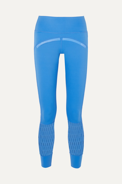 + Parley for the Oceans Training Believe This laser cut stretch leggings