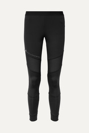 + Parley Essentials mesh-paneled Climalite stretch leggings