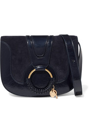 See by Chloé Hana small suede and patent-leather shoulder bag
