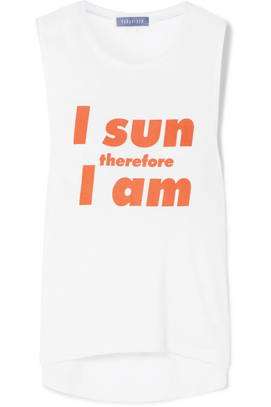 PARADISED I SUN PRINTED STRETCH-JERSEY TANK