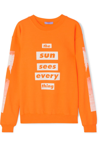 PARADISED SUN SEES PRINTED COTTON-BLEND JERSEY SWEATSHIRT