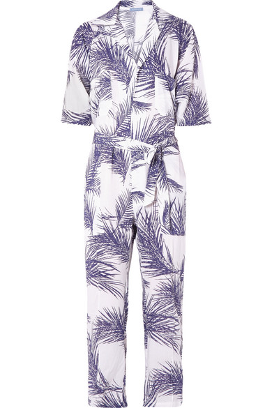 PARADISED OVERSIZED PRINTED VOILE JUMPSUIT