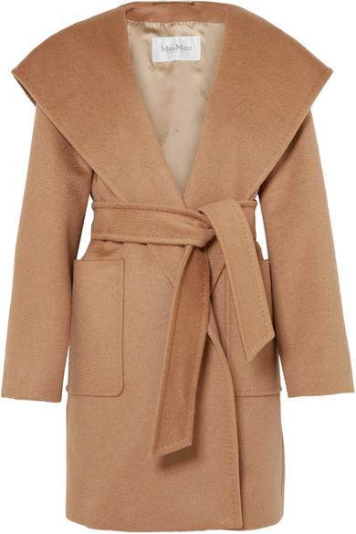 Max Mara - Hooded Camel Hair Coat - Beige