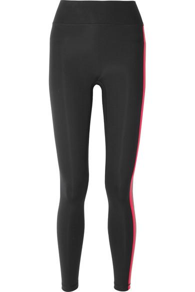 ALL ACCESS Stevie Striped Stretch Leggings in Black