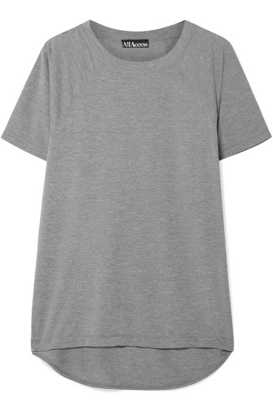 ALL ACCESS Security Stretch-Jersey T-Shirt in Gray
