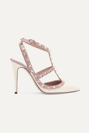 Valentino The Rockstud glossed-leather pumps