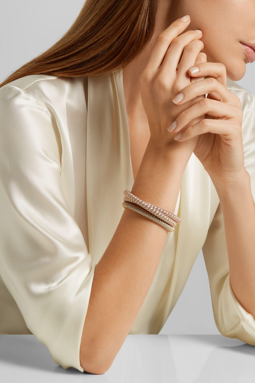Carolina Bucci Twister Armband mit 18 Karat Roségoldauflage und Seide