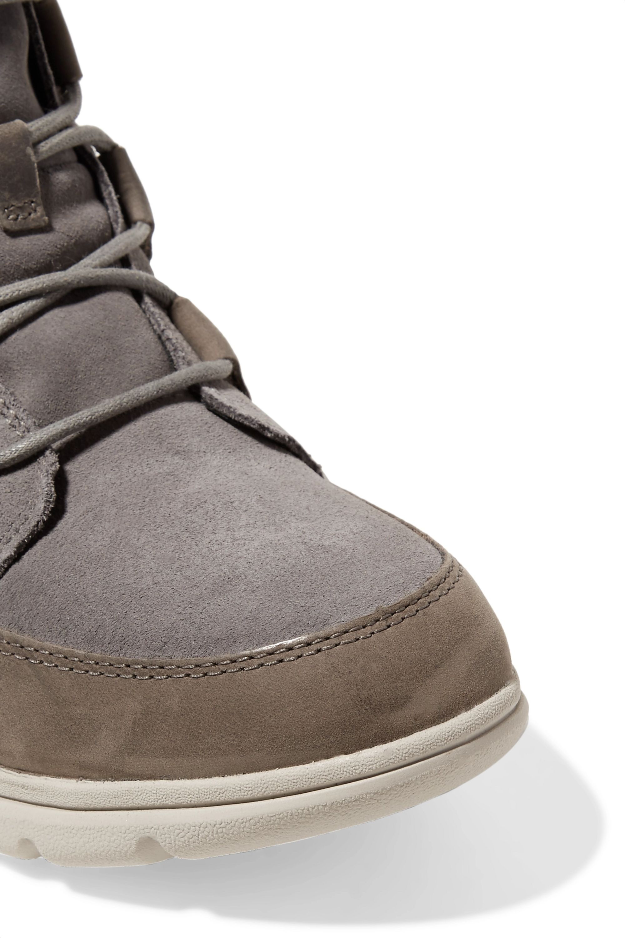 SOREL Explorer Joan faux fur-trimmed waterproof suede and leather ankle boots