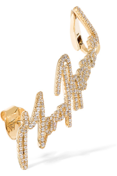 + Tracey Emin More Passion 18-karat Gold Diamond Ear Cuff - one size Stephen Webster zKTREvAC6i