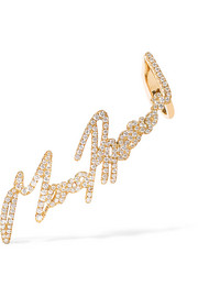 + Tracey Emin More Passion 18-karat gold diamond ear cuff