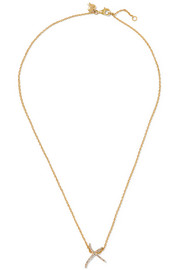 + Tracey Emin Kiss 18-karat gold diamond necklace