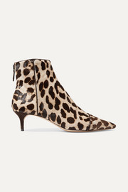 Kittie leopard-print calf hair ankle boots