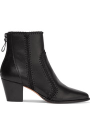 Benta whipstitched leather ankle boots