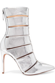 Alexandre Birman Sommer metallic leather and Perspex ankle boots