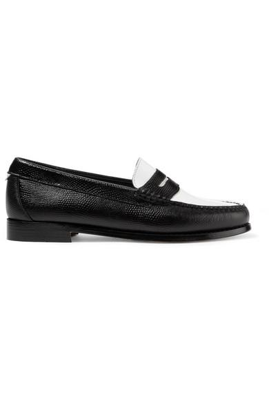 RE/DONE | + Loafers RE/DONE The Whitney Weejuns Loafers + aus Lackleder und Leder mit Eidechseneffekt ae437b