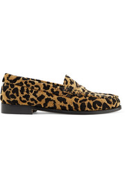 + Weejuns The Whitney leopard-print terry loafers