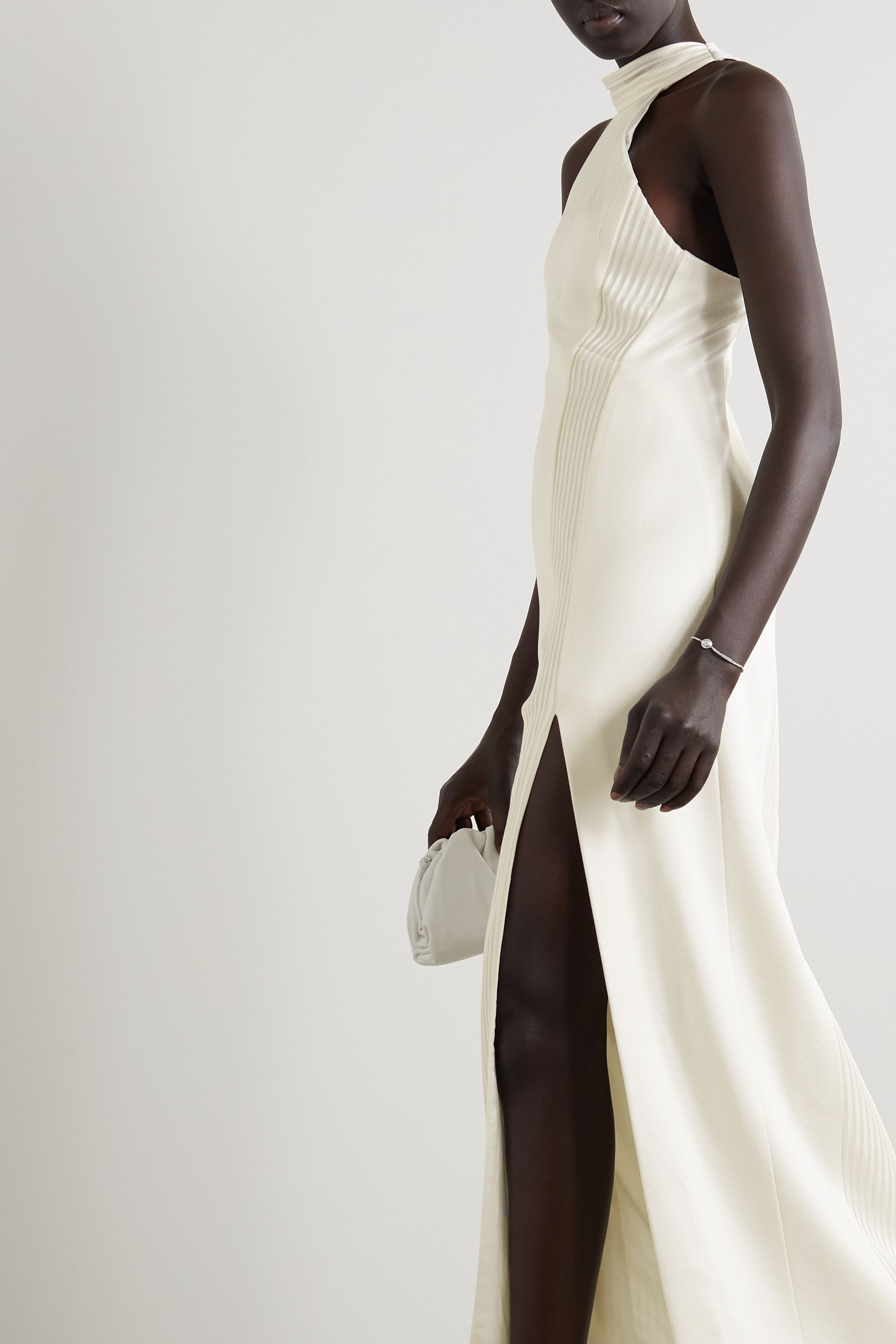 Galvan Palm Beach ribbed jersey gown