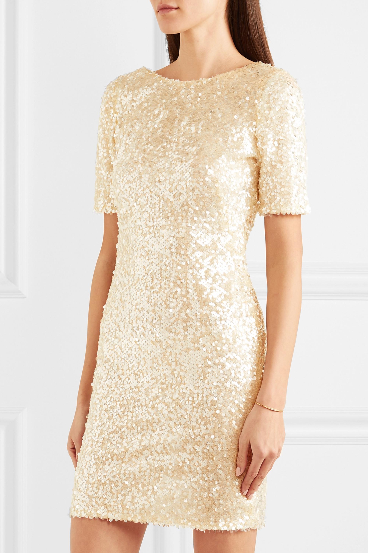 Galvan Sequined georgette mini dress