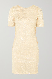 Galvan Sequined georgette mini dress