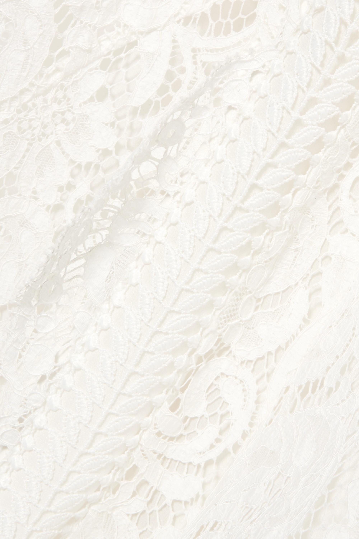 Galvan Sevilla cotton-blend lace gown