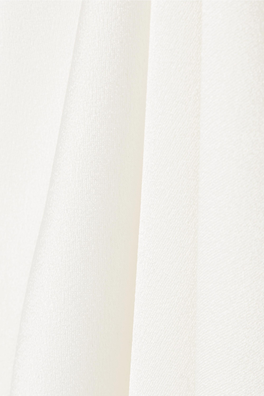 White Satin Halterneck Top | Galvan