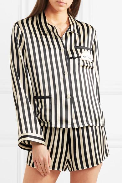Morgan Lane. + Amanda Fatherazi Corey striped silk-charmeuse pajama shorts.   210. Zoom In 4ae664905