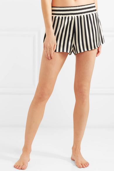 Morgan Lane. + Amanda Fatherazi Corey striped silk-charmeuse pajama shorts d0339414c